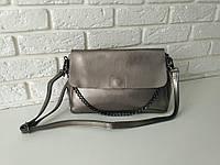 """Жіноча шкіряна сумка """"Синди2b, Silver"""", фото 1"""