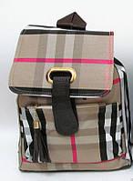 2703 рюкзак молодежный женский в стиле Louis Vuitton 34х27х12 см бежевый экокожа