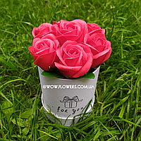"""Цветы из мыла. Милые красные розы из мыла """"Муза"""". Уникальный вау-подарок для девушки"""