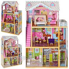 Дерев'яний будиночок з меблями для ляльок (аналог KidKraft) арт. 2252