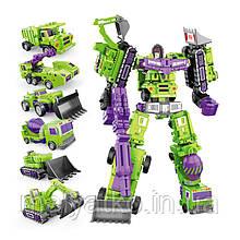 Робот-трансформер Девастатор 6в1, 27 см, зеленый - Devastator, KO, Xingbian