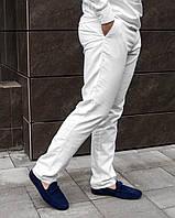 Мужские белые льняные брюки S M L XL