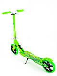 Самокат детский двухколесный, складной Scooter Select Style 016, городской, большие колеса, Салатовый, фото 2