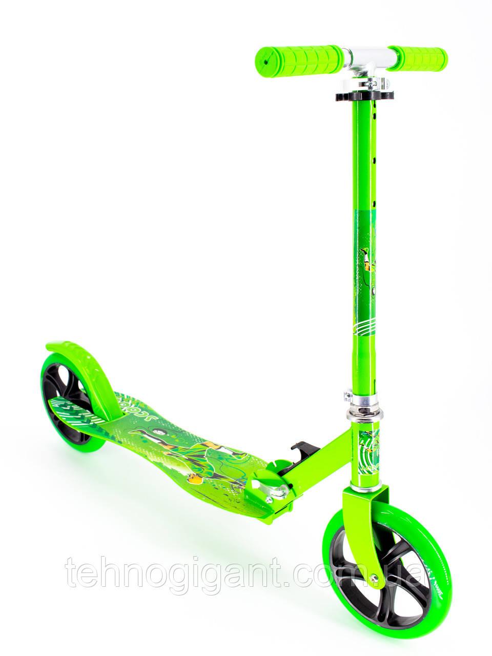 Самокат детский двухколесный, складной Scooter Select Style 016, городской, большие колеса, Салатовый
