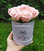 """Цветы из мыла. Шикарные розовые розы из мыла """"Ваниль"""". Уникальный подарок для любимой"""