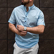 Рубашка мужская из льна белая  S M L XL XXL, фото 2
