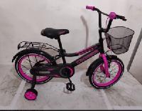 Детский двухколесный велосипед для девочки  4 5 6 7 лет Crosser розовый  2+2 дополнительные колеса 16 дюймов