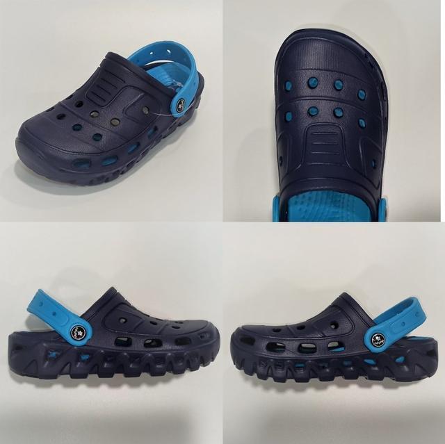 Детские кроксы Calypso, сине-голубые фото
