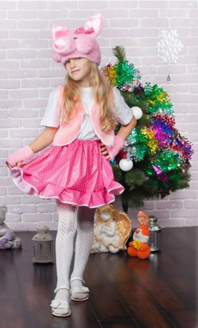 Детский карнавальный костюм Хрюша для девочки
