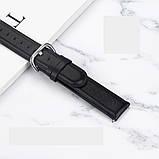 Ремешок для Amazfit BIP | Bip Lite | GTS | GTS 2 | Gtr 42mm кожаный 20мм размер L Черный BeWatch (1220101), фото 3