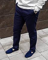 Стильные мужские  льняные брюки синего цвета S M L XL