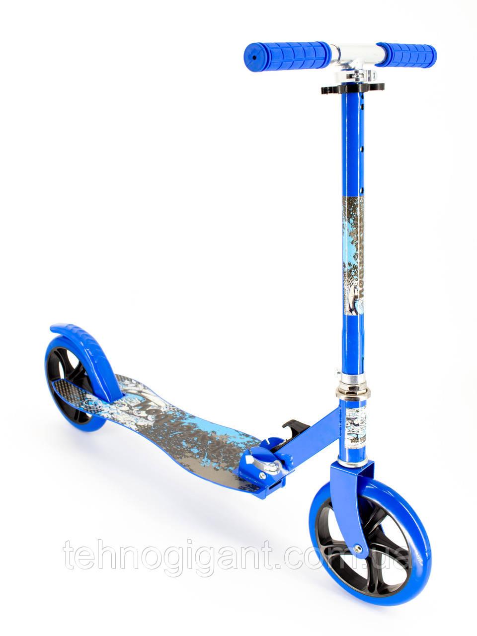 Самокат детский двухколесный, складной Scooter Select Style 016, городской, большие колеса, Синий