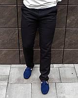 Чёрные классические мужские брюки из льна S M L XL