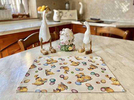 Серветка-підкладка для кухні LiMaSo 34*44 см гобеленова великодній арт.EDEN865-34.34х44, фото 2