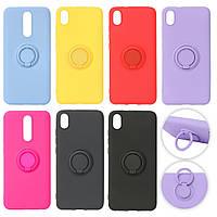 Samsung A50 A505 / A30s A307 / A50s A507 - Чехол силиконовый для телефона ColorRing с кольцом (6 цветов)