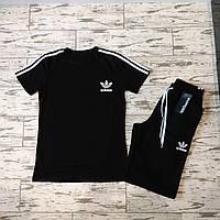 Мужской летний спортивный костюм Adidas. Футболка и шорты