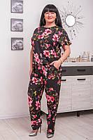 Летний женский костюм из легкого софта Бали (52-62)