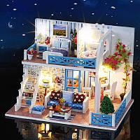 Румбокс сборный миниатюрный домик конструктор DIY House Helen Bian