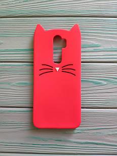 Чохол 3D Cat для Xiaomi Redmi Note 8 Pro Бампер Вусики Червоний