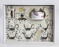 Чайный набор CHI KAO заварник 800 мл.-1 шт. чашки: 120 мл. - 6 шт.