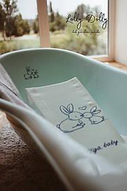 Подставка для купания младенца мягкая Tega Кролики , blue