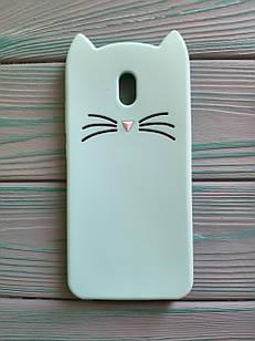 Чохол 3D Cat для Xiaomi Redmi 8A Бампер Вусики М'ятний