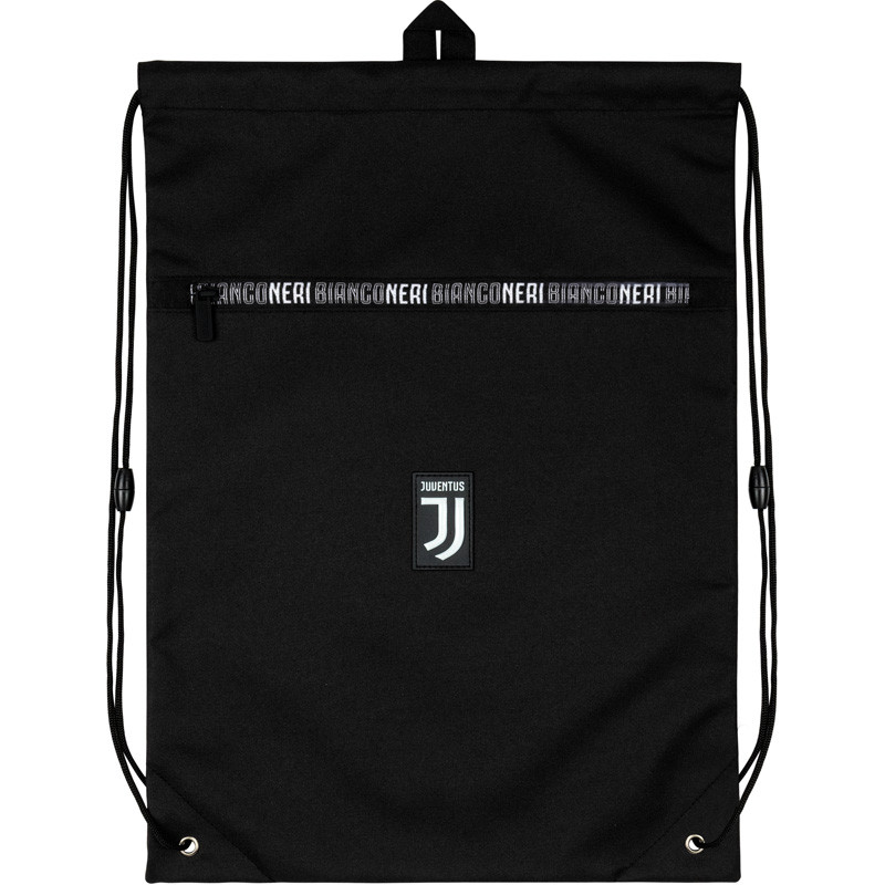 Сумка для обуви с карманом Kite Education FC Juventus 49х36 см Черная (JV20-601L)