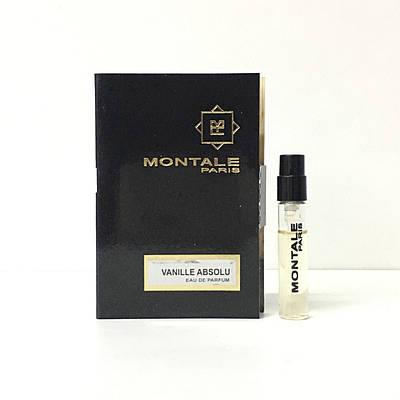 Женский восточно-гурманский аромат пробник MONTALE Vanille Absolu 2 мл (Ваниль Абсолю) нишевая парфюмерия
