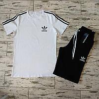 Спортивный костюм мужской летний Adidas. Футболка + Шорты Adidas