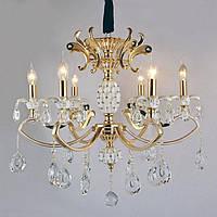 Люстра классическая в золоте с кристаллами SLAVIA KC007/6 (gold)