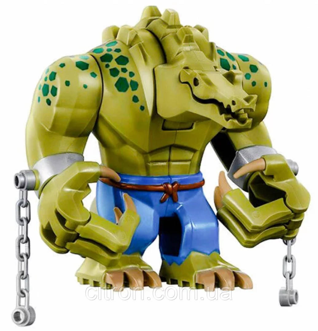 Большая фигурка Крокодил 8см аналог Лего конструктор