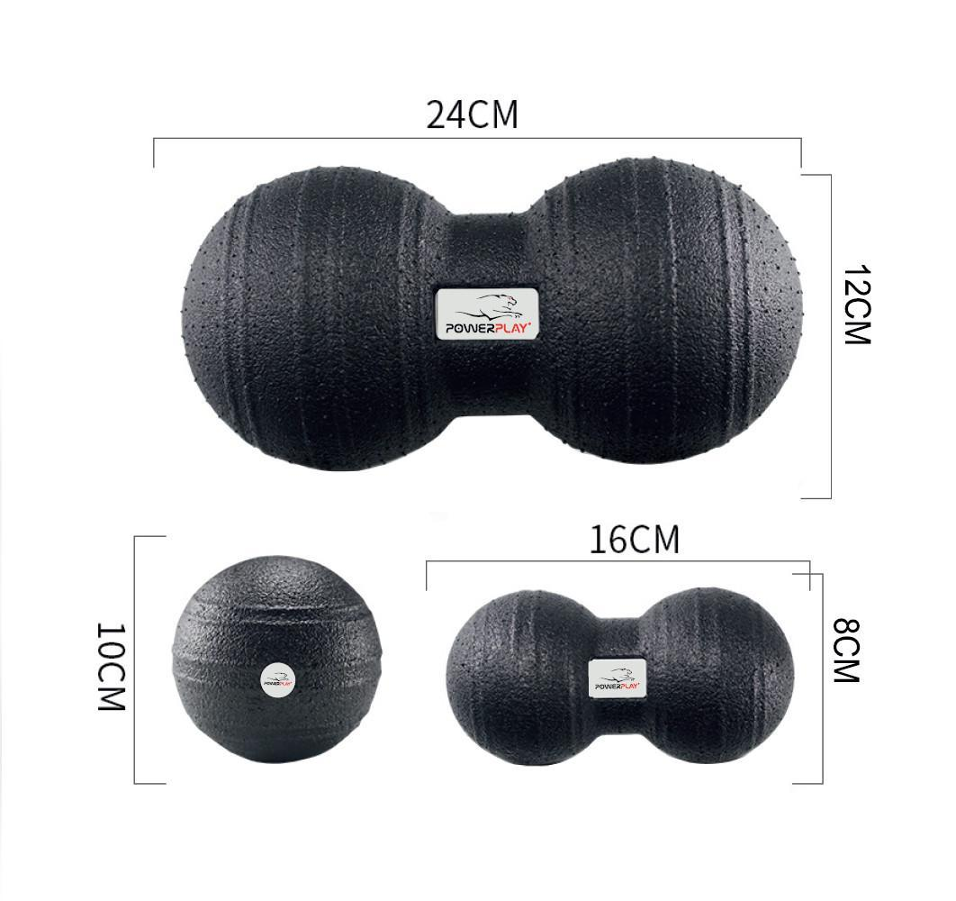 Набор массажных мячиков, мяч-орех, мяч арахис PowerPlay 4007 3 шт
