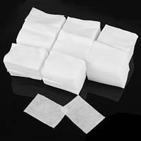 Безворсовые салфетки для маникюра 6 * 6 см Doily (400 шт в тубусе) спанлейс 40 г / м2, белые