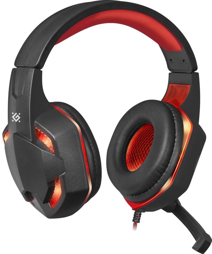 Гарнитура Defender Warhead G-370 Black/Red (64037)