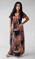 Длинное женское платье свободным кроем, фото 1