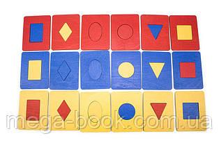 Досточки Сегена 6 фігур, 3 кольори