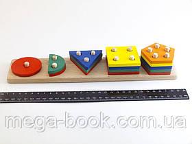 Деревянная игрушка Геометрик 5 фигур