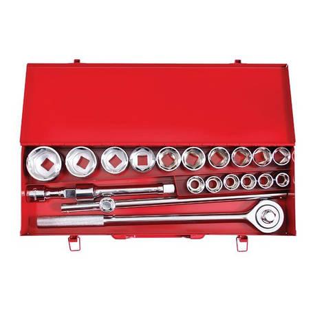 """Набір інструменту 3/4"""", 20 од (гол. 19-50 мм) металевий кейс INTERTOOL ET-6024, фото 2"""