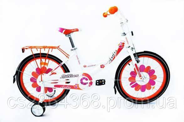 """Ardis Lillies BMX 20"""" бело-оранжевый"""