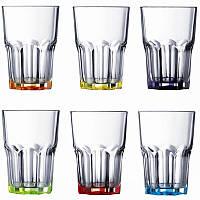 Набор стаканов с разноцветным дном Luminarc New america Брайт колорс 350 мл 6 шт( J8932)