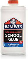 Клей Элмерс белый Elmer's Liquid School Glue White идеален для создания слаймов 946 мл