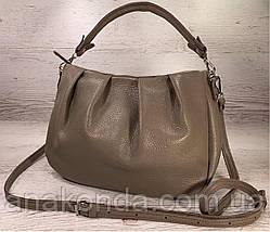 674 Натуральная кожа, Сумка женская кофейная кожаная коричневая бежевая женская сумка мягкая коричневая, фото 2