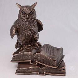 """Статуэтка """"Сова"""" из полистоуна Veronese с бронзовым напылением размер 17 см"""