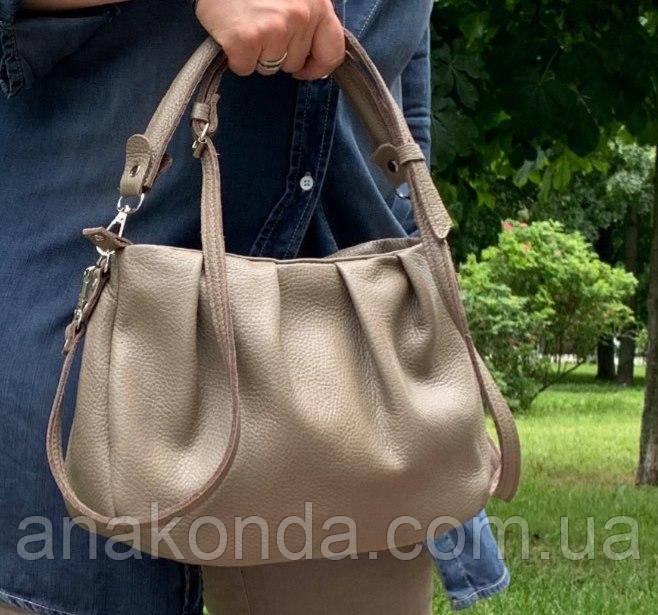 674 Натуральная кожа, Сумка женская кофейная кожаная коричневая бежевая женская сумка мягкая коричневая