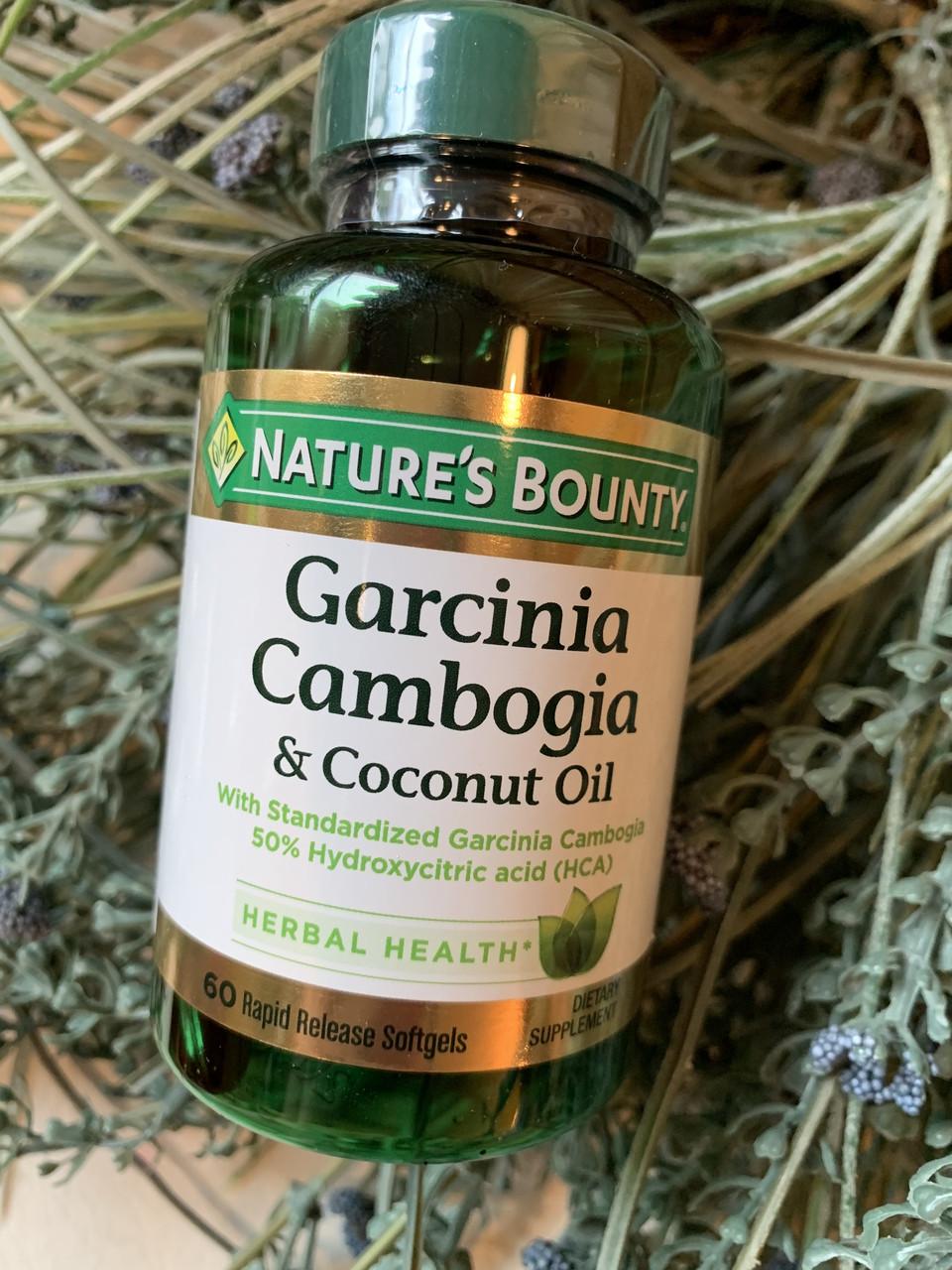 Гарциния камбоджийская для снижения аппетита Nature's Bounty Garcinia Cambogia