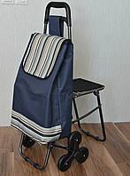 Хозяйственная сумка - тележка на 6-ти колесиках + сиденье., фото 1