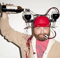 Пивная каска, шлем для банок с пивом.( цвет розовый), фото 1