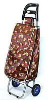Господарська сумка - візок з колесами на підшипниках Owl on brown, фото 1