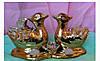 Статуэтка фарфор утки мандаринки (золото), высота 7 см.