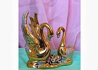 Статуэтка фарфор Лебедь (золото), высота 13 см.